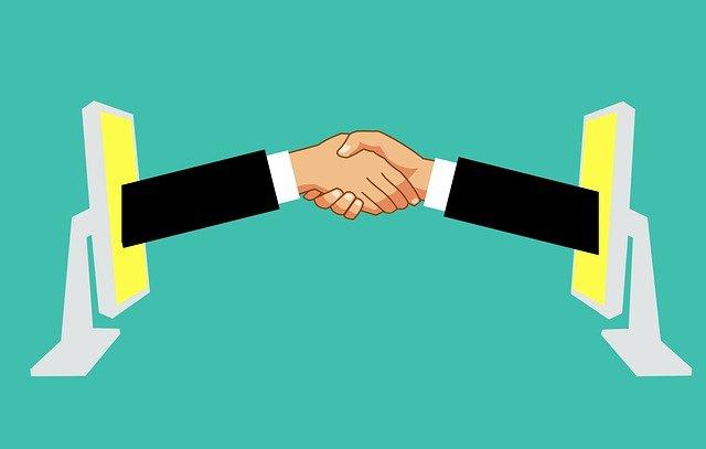 Affiliate marketing online handshake